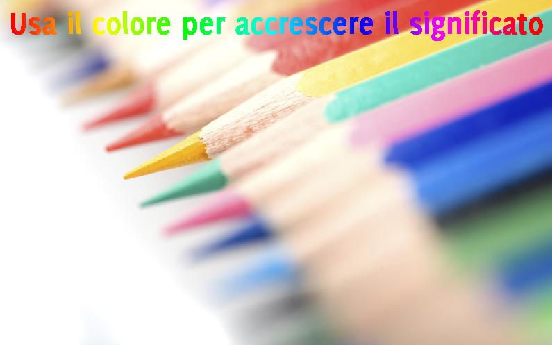 Usa il colore per accrescere il significato