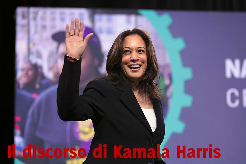 Analisi del discorso di Kamala Harris